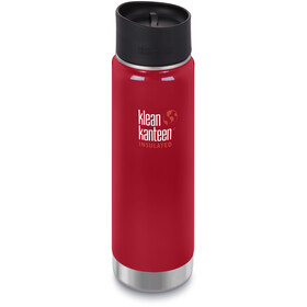 Klean Kanteen Wide Vacuum Insulated Bidon Café Cap 2.0 592ml, mineral red